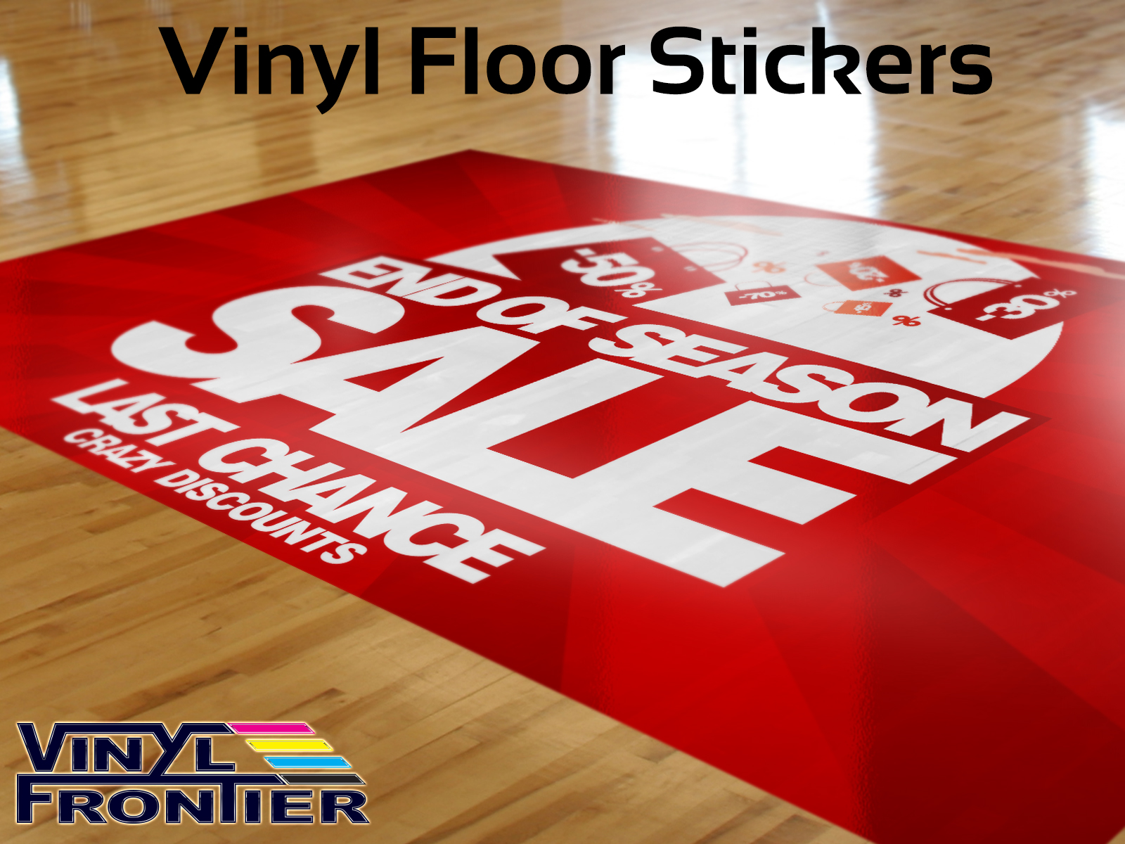 Vinyl floor graphics floor graphics 3d floor graphics for Floor stickers