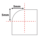 5mm Rounded